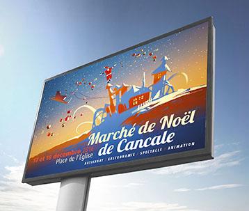 Affiche marché de Noël de Cancale