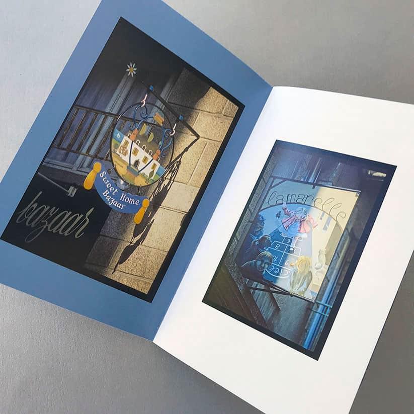 Photographies enseignes de Saint-Malo intra-muros, création graphique et mise en page, édition livre d'art, Quadrat Design Graphique Dinard