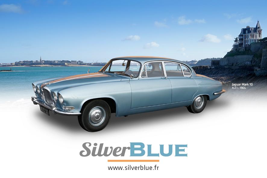 Jaguar Silverble Mark 10 avec chauffeur
