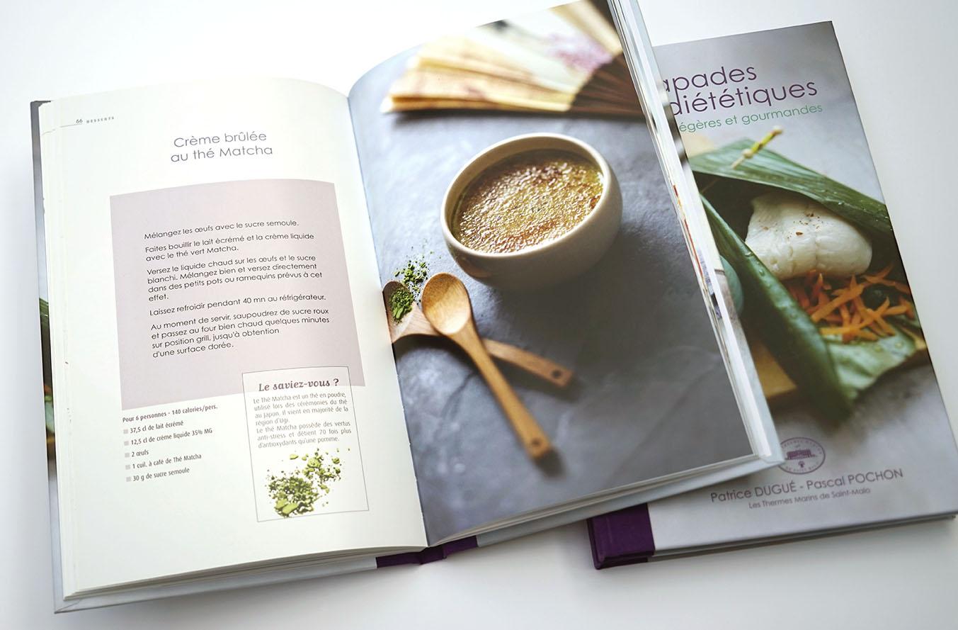 Livre de recettes diététiques des Thermes Marins de Saint-Malo