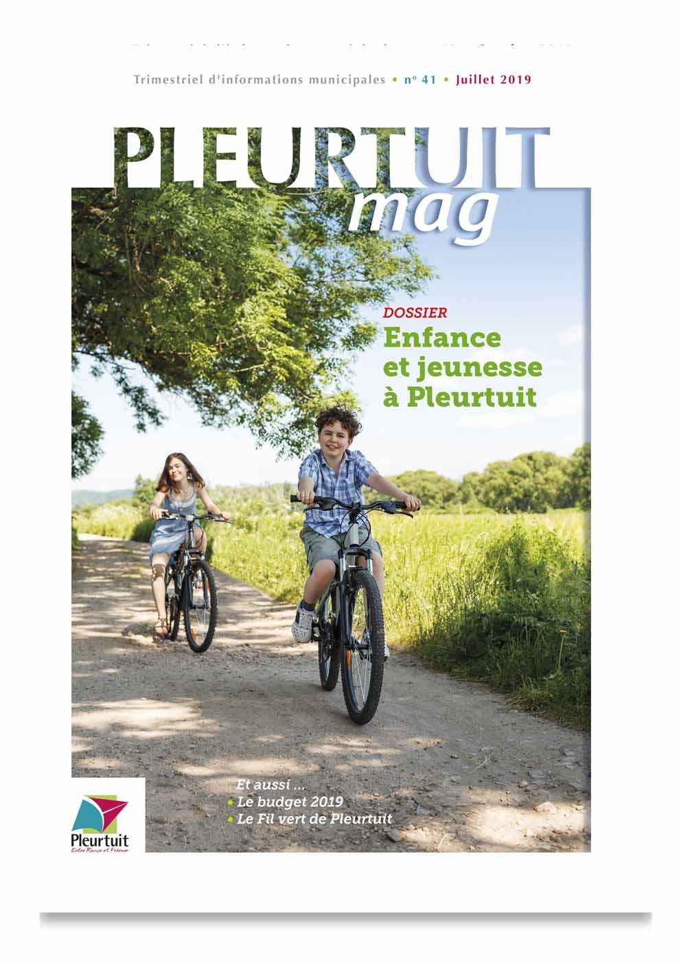 Pleurtuit magazine, création graphique, mise en page, exécution fichiers techniques, suivi d'impression, Quadrat Design Graphique Dinard