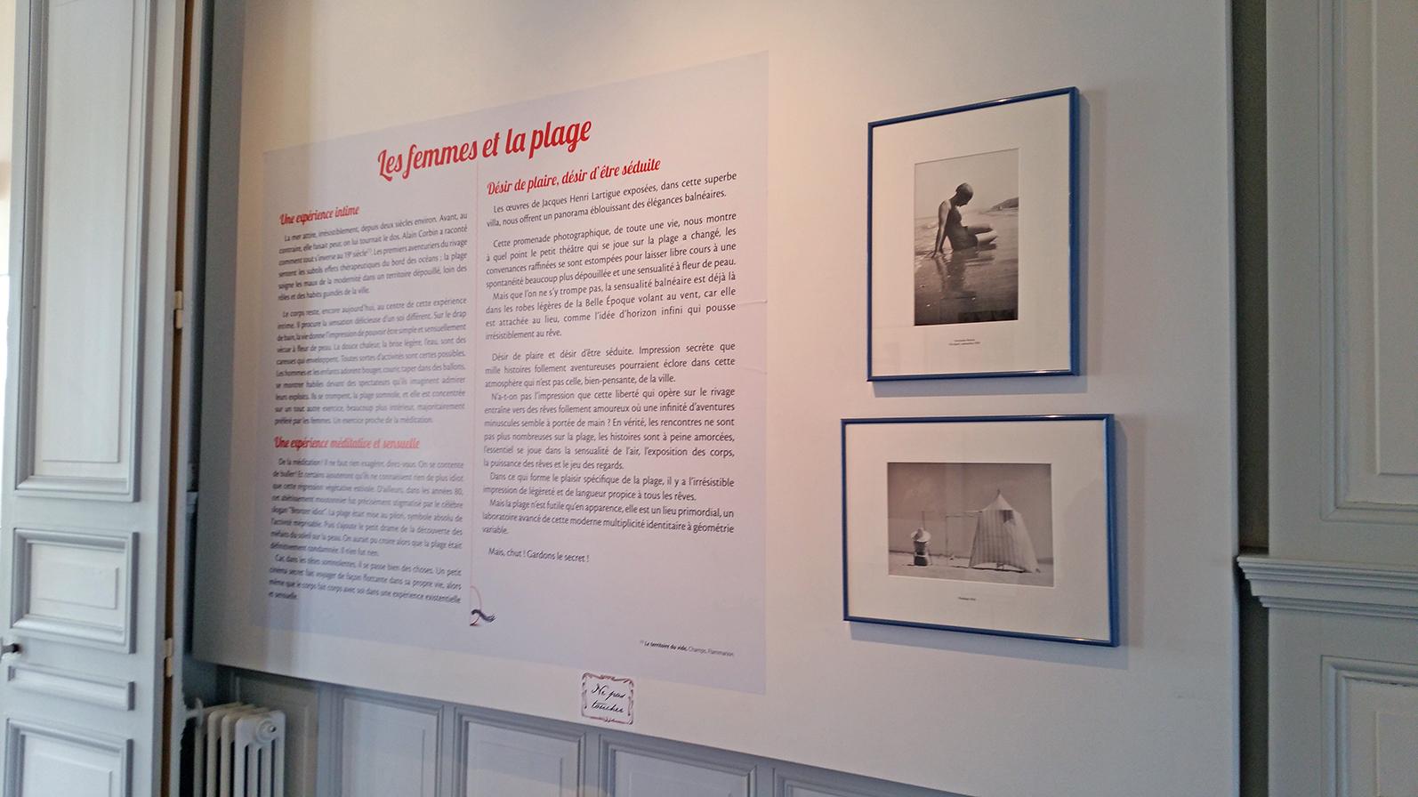 Exposition Lartigue, villa les Roches Brunes, Dinard